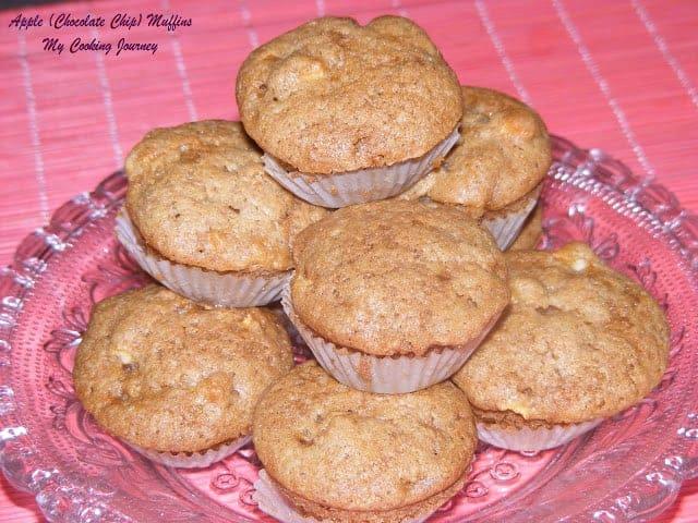 Apple chocolate chip muffin