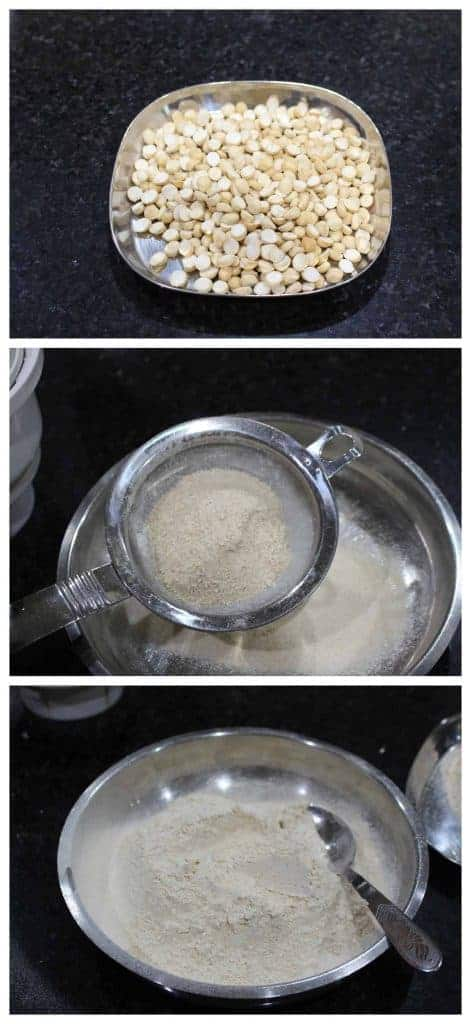 How to make roasted gram flour / Pottukadalai maavu