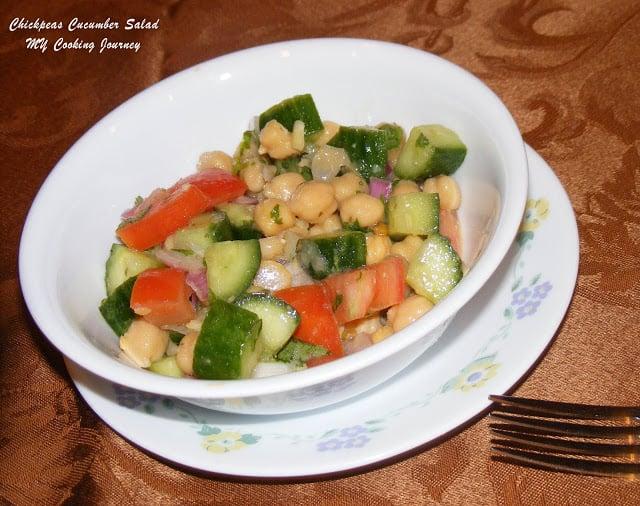 Chick peas cucumber salad %%
