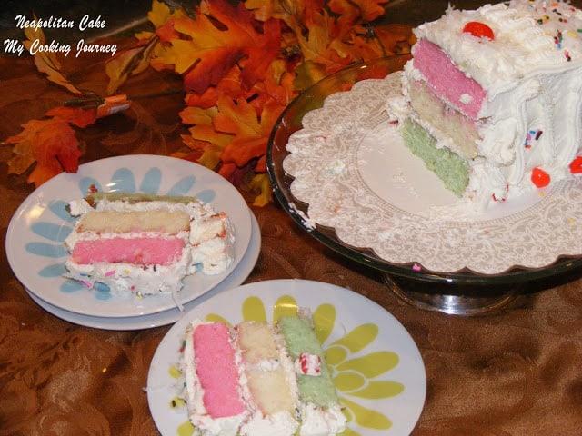 Neapolitan Cake | Festive Holiday Cakes