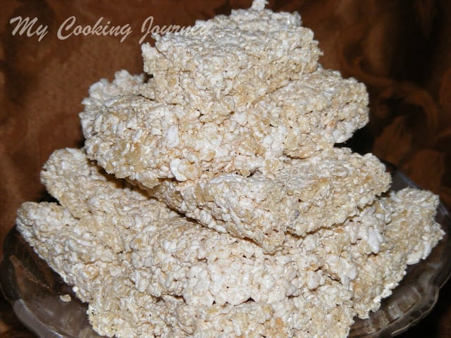 Rice krispie treats without Marshmallow