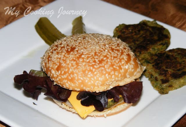 White bean and greens burger %%