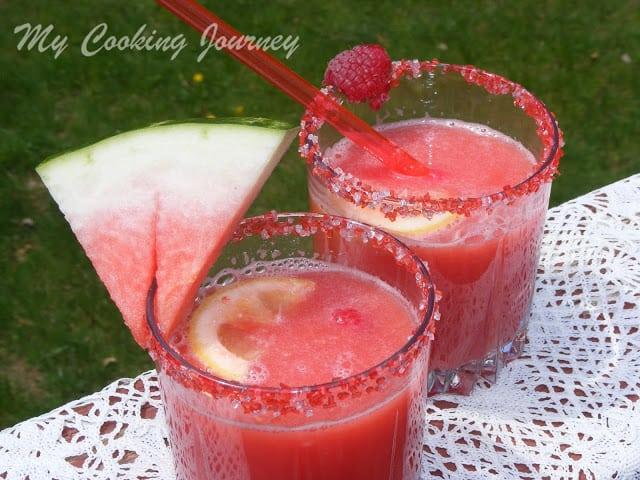 Watermelon Raspberry Lemonade