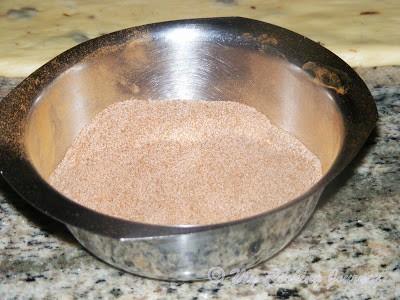 sugar and cinnamon mixture