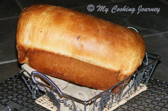 Cinnamon Raisin Bread - Whole loaf in a basket