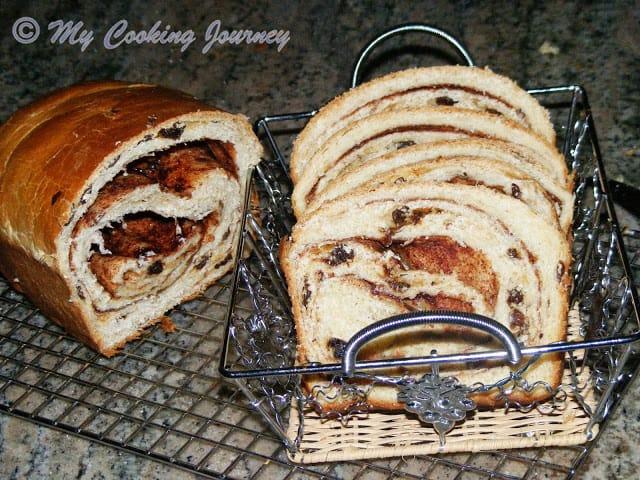 Cinnamon Raisin Bread - Sliced