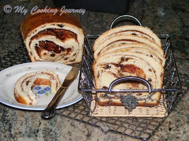 Cinnamon Raisin Bread Side view