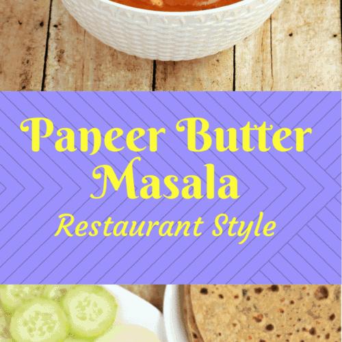 Restaurant Style Paneer Butter Masala
