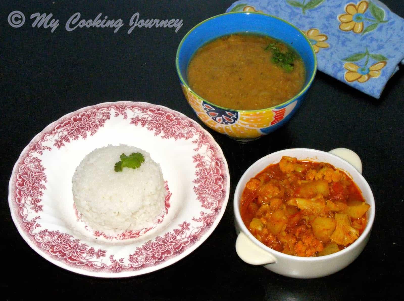 Dal Bhaat Tarkari – National Dish of Nepal (Rice, lentils and Vegetables)