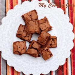 Simple Classic Brownie Recipe in Plate