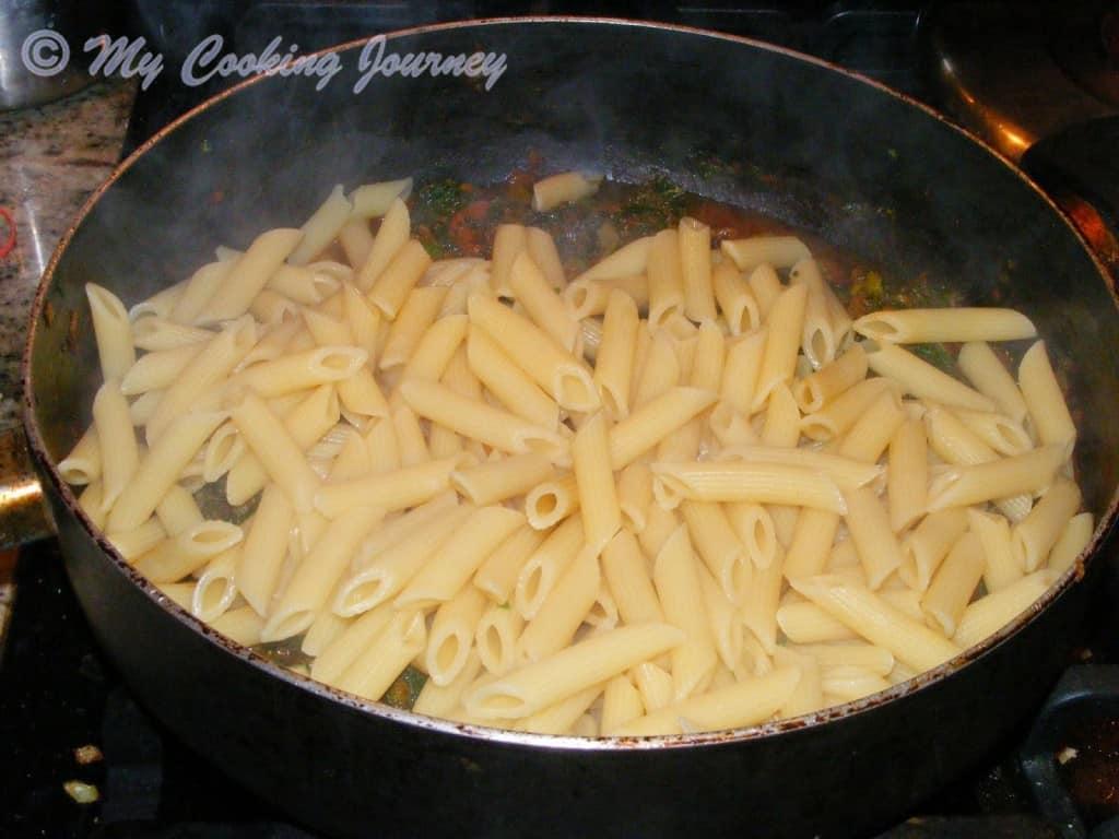 Boiled pasta