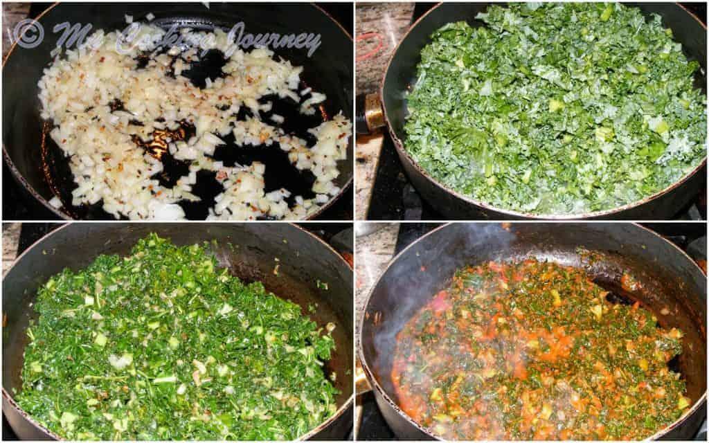 Kale and Tomato Pasta Procedure 1