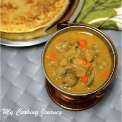 Chettinad Vegetable Kurma in a bowl