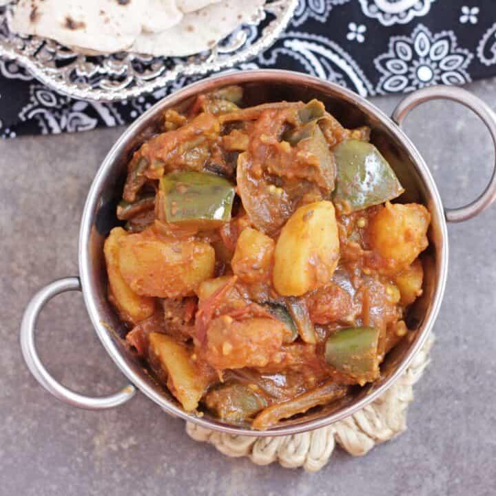 Potato and eggplant curry