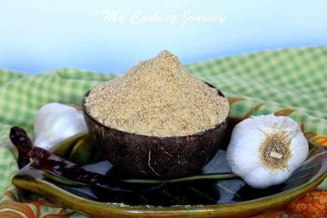Poondu Paruppu Podi – Garlic Paruppu Podi