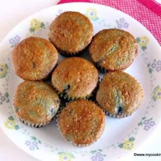 Blueberry Muffin Recipe – Eggless