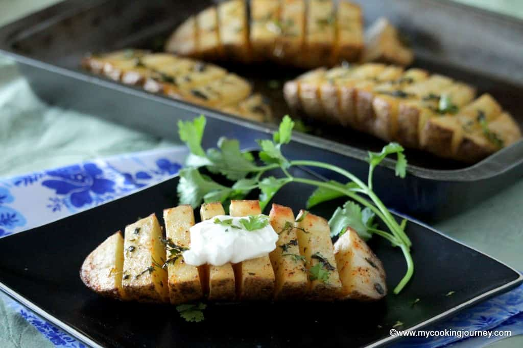 Scored Potatoes – Spicy Scored Baked Potatoes