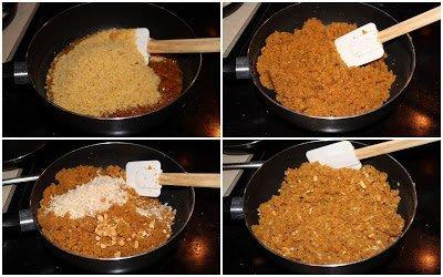 Step by step preparation of Ukkarai - Okkarai