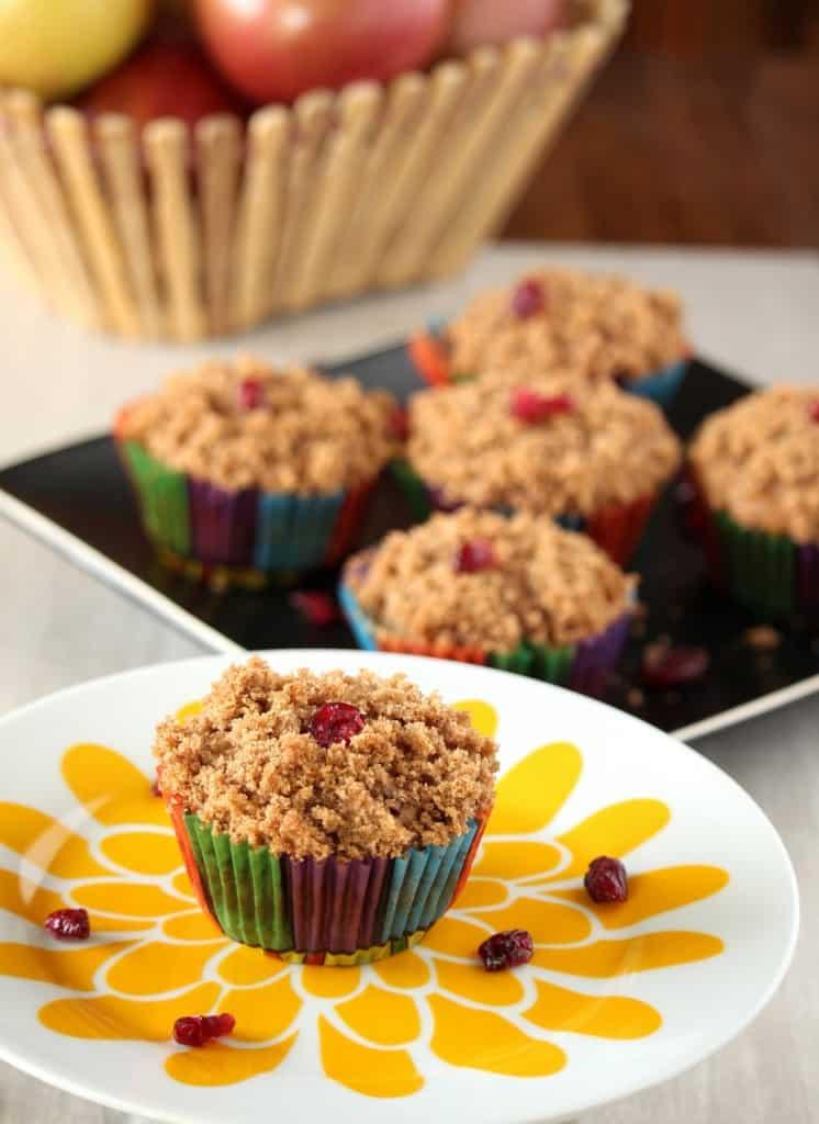 Whole wheat Apple Cranberry muffins %%