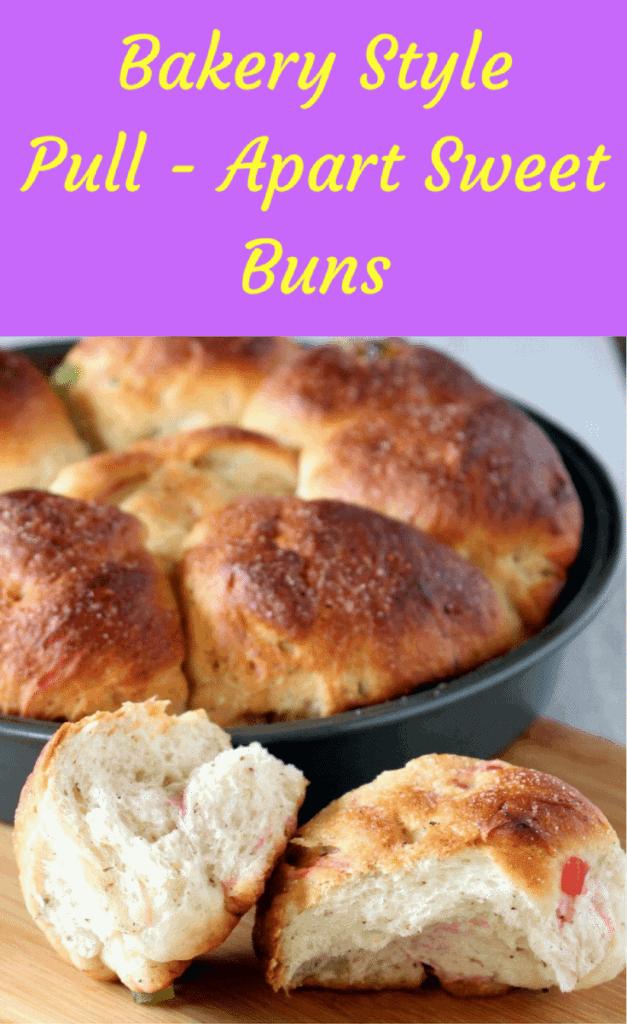 Pull Apart Sweet Buns – Bakery Style Sweet Buns