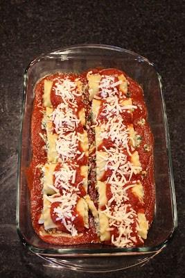 Spinach Lasagna roll ups %%