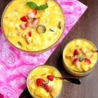 fruit salad with mango pulp