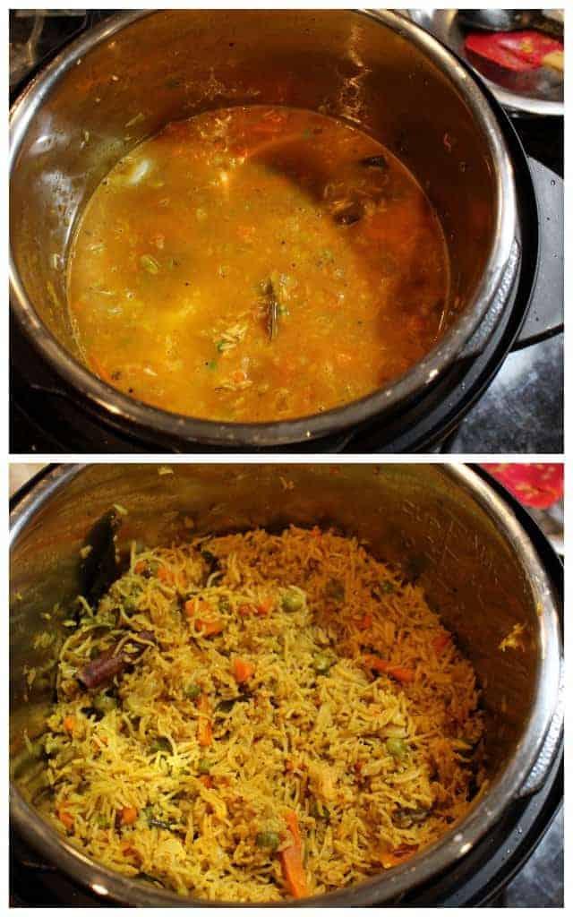 Vegetable Masala Bhaath - Instant Pot Vegetable Masala Bhaath