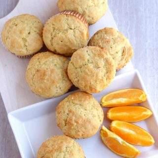 Orange Muffins - Eggless Orange Muffins