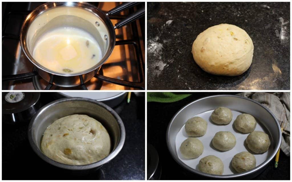 Making dough for Hot Cross buns