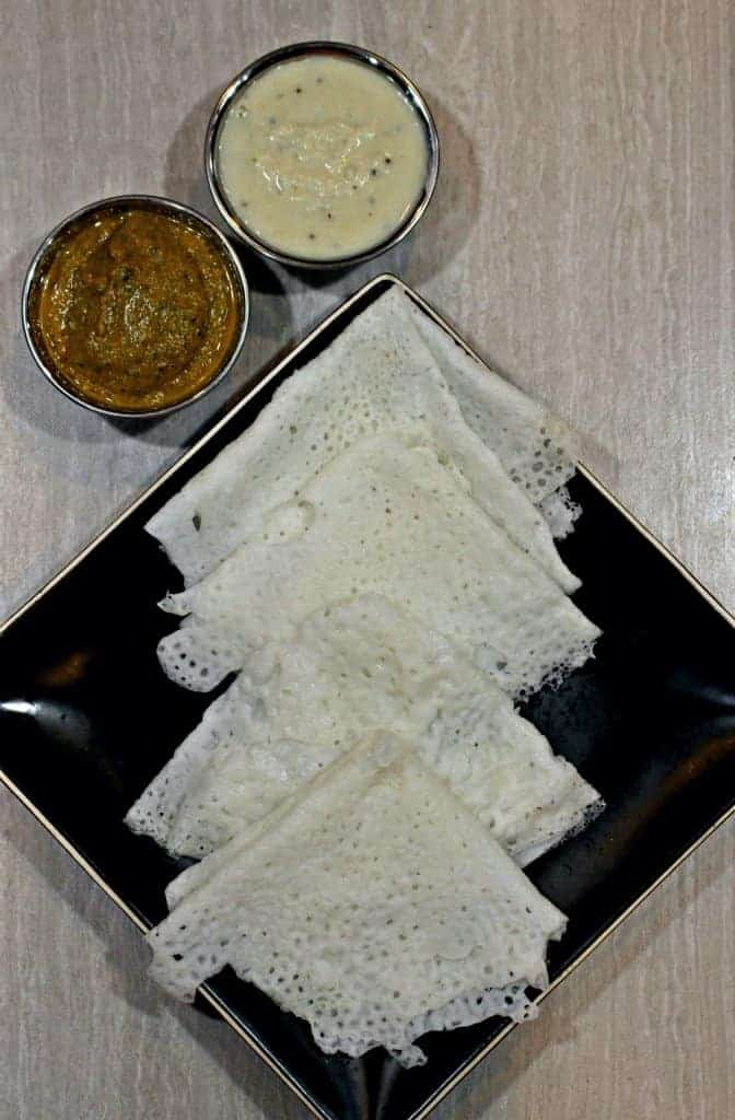 Neer Dosa | Neer Dosai - Vegan and Gluten Free Rice Crepes