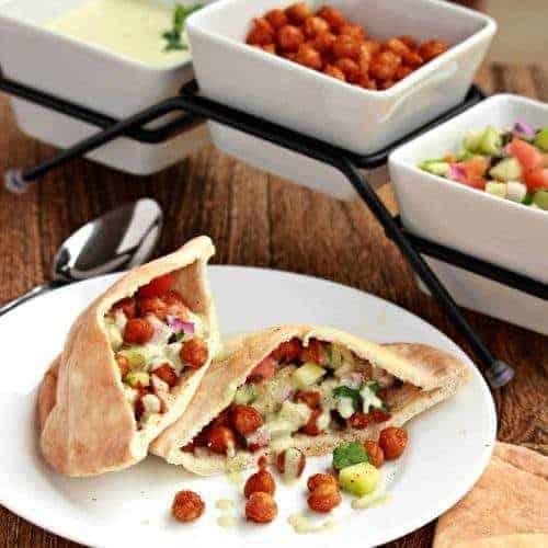 Chickpea Shawarma Wrap | Vegetarian Shawarma Sandwich