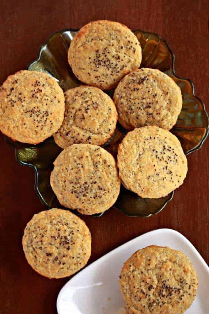 Lemon Chia Seed Muffins | Egg Less Muffins