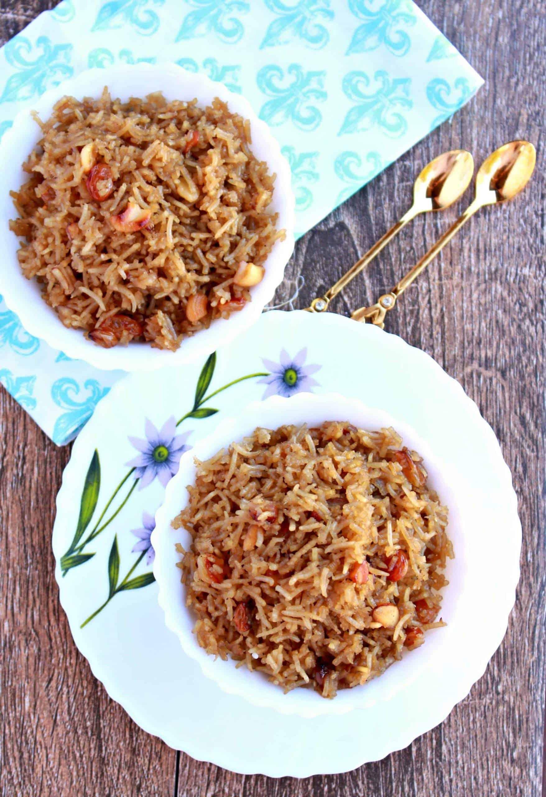 Narali Bhath   Sweet Coconut Rice