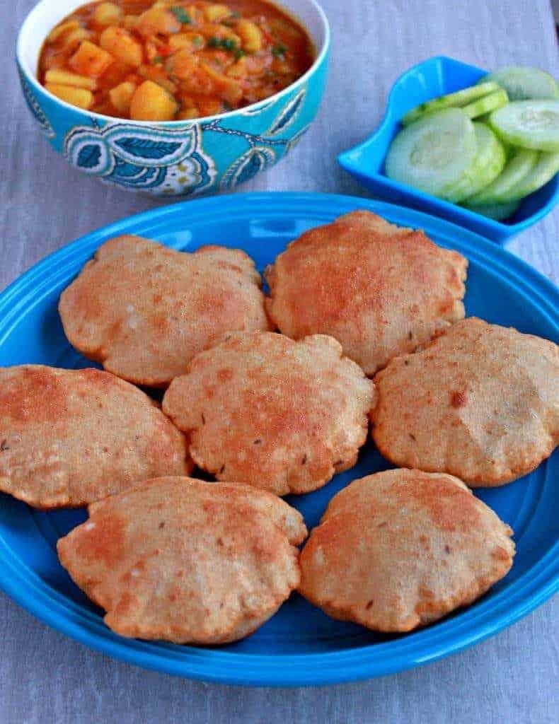 Rajgira Aloo Poori | Amaranth Flour Poori