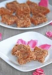 Coconut Gulkand Burfi | Coconut and Rose Petal Preserve Fudge