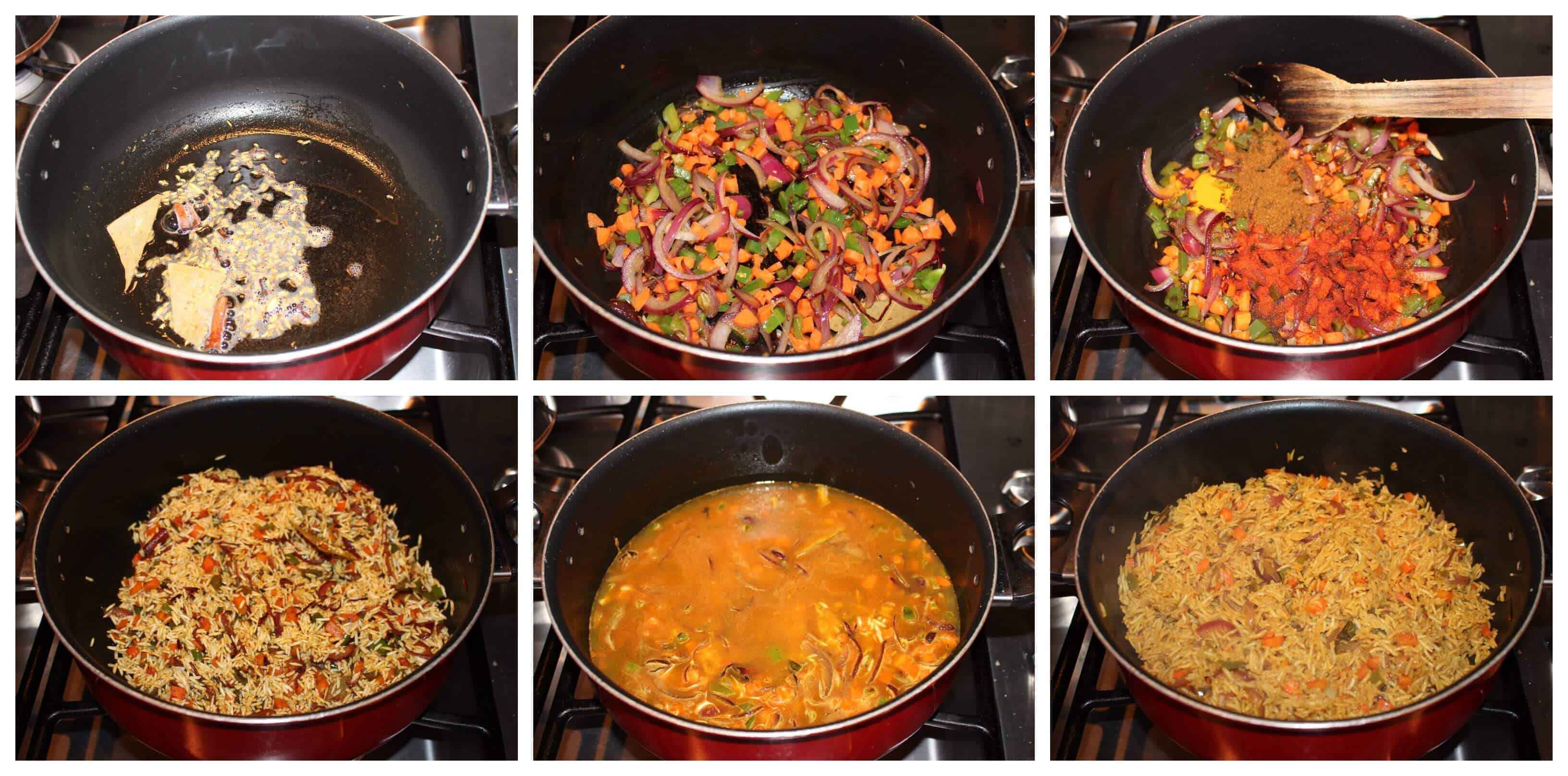 Step by step method to make Vegetable Biriyani