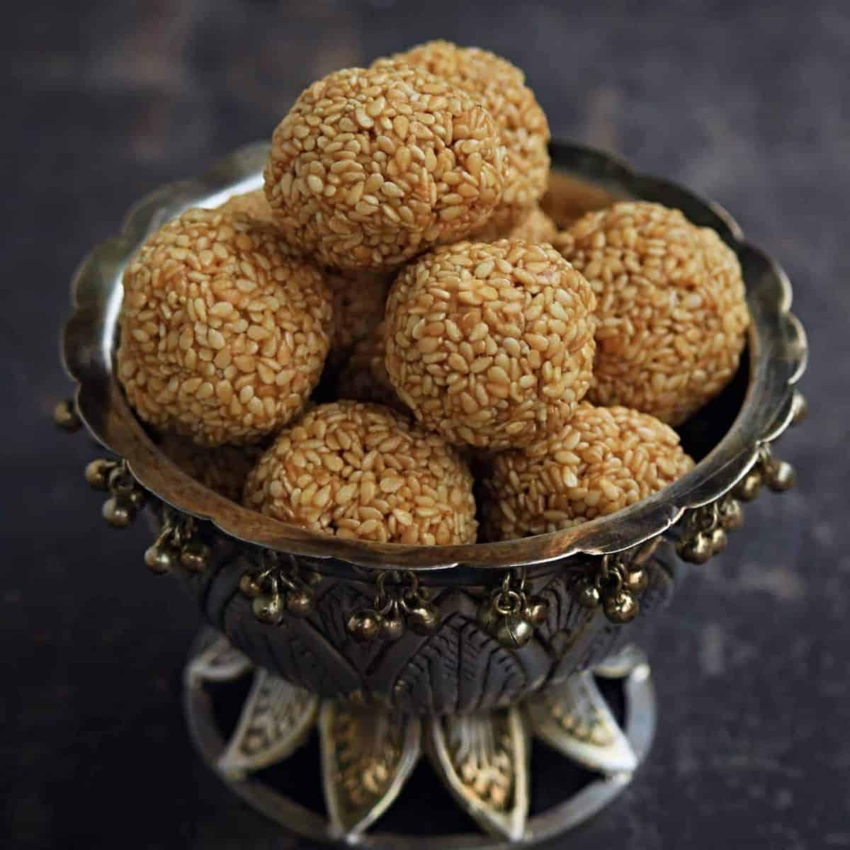 Til Ladoo | Tilgul Ladoo | Sesame Seed Ladoo - My Cooking Journey