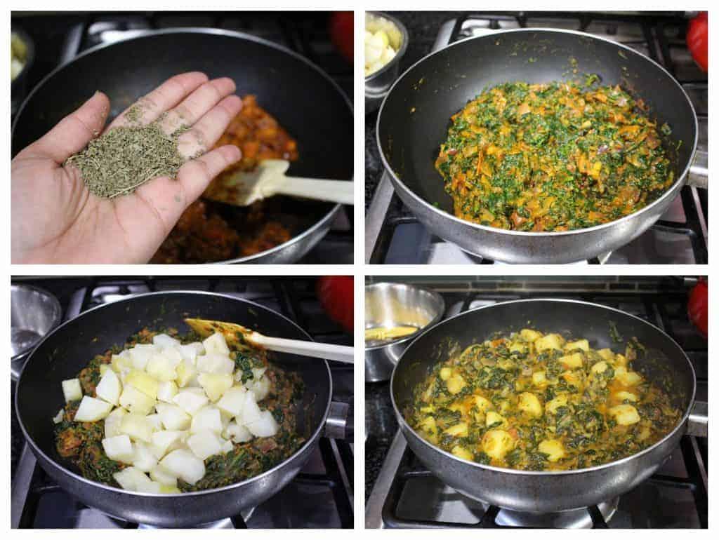 How to make Saag Aloo