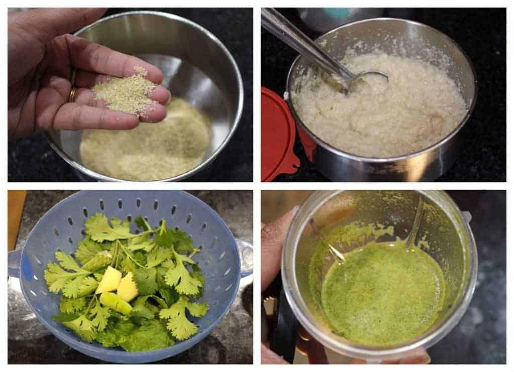 Process shots for Broken Wheat Porridge