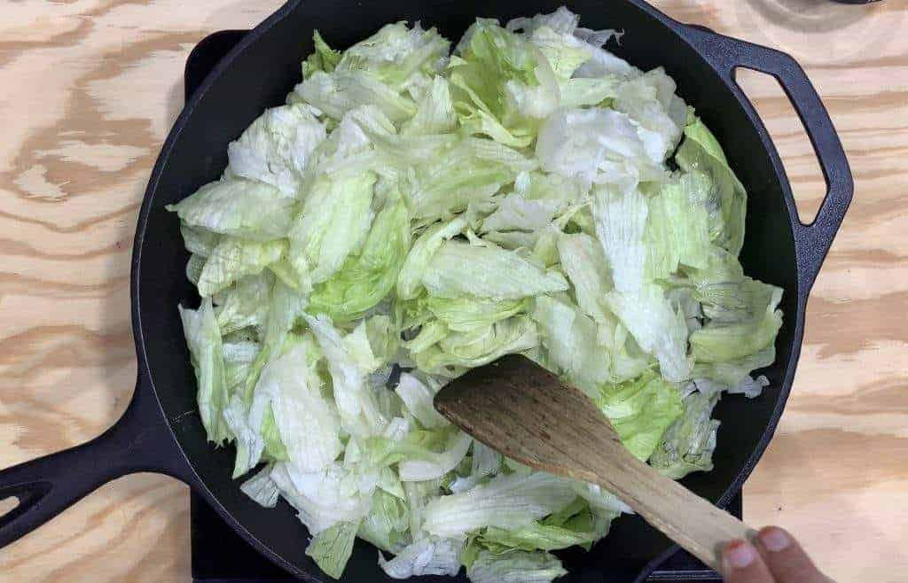 Cooking Iceberg lettuce