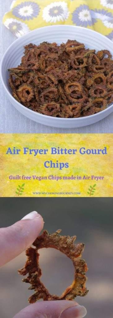Bitter gourd chips made in air fryer