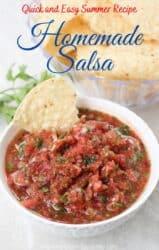Pin image for homemade salsa