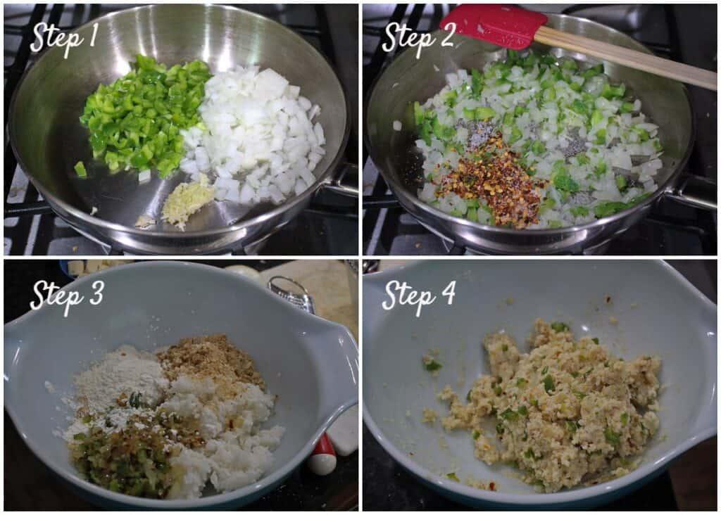 Process shot to make dough for arancini