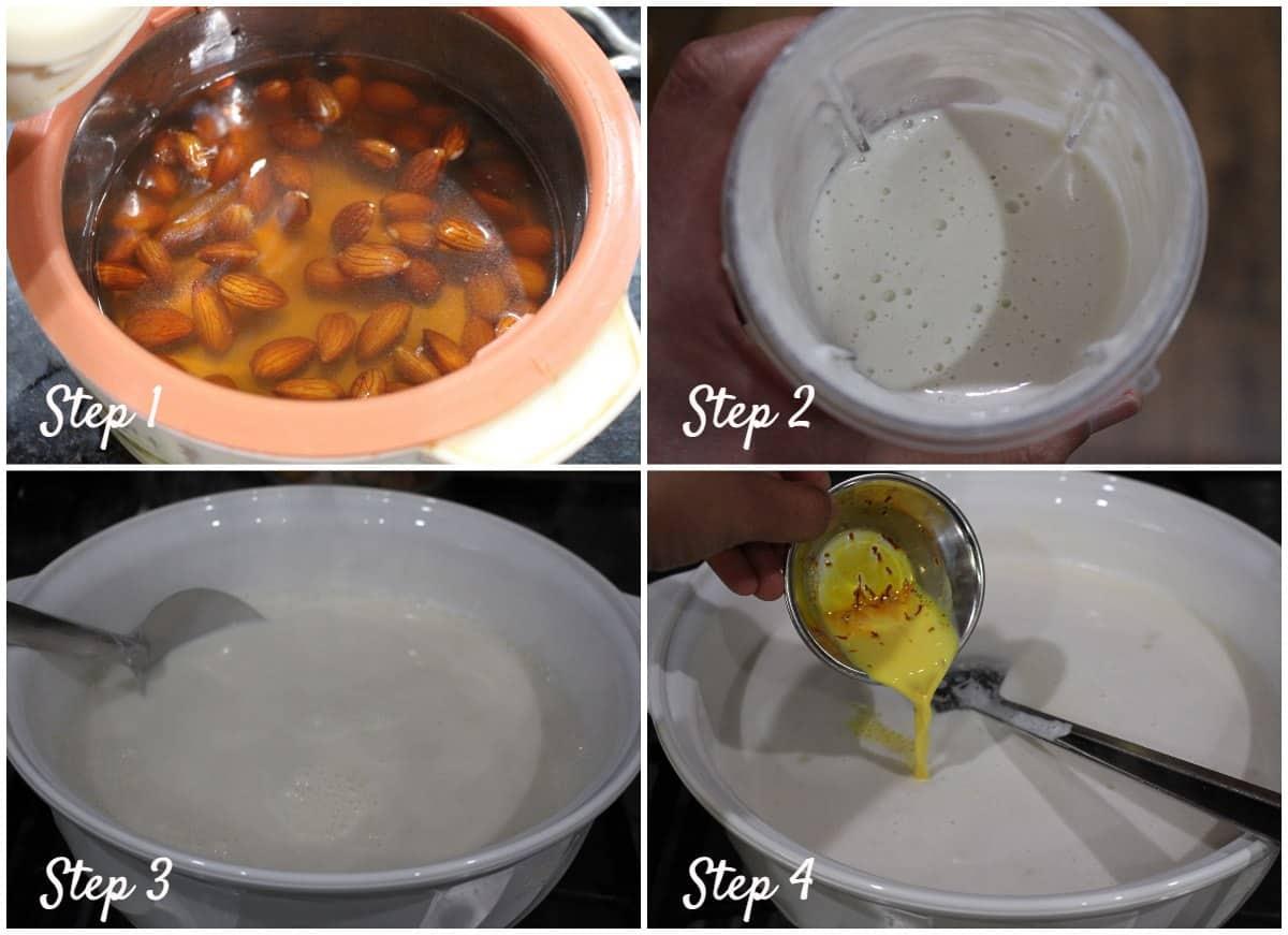 process shot for making sweet milk