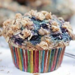 Single banana blueberry muffin
