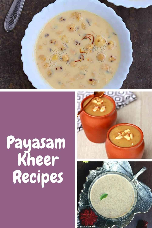 Different payasam recipes for Navaratri