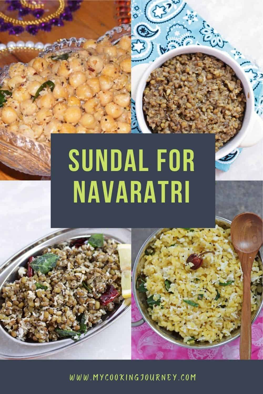 Sundal recipes for Navarathri