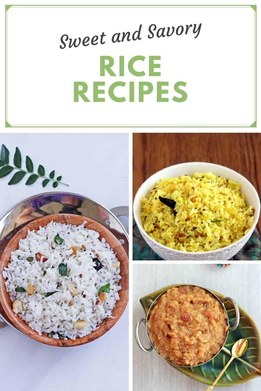 Sweet and savory recipe for Navaratri