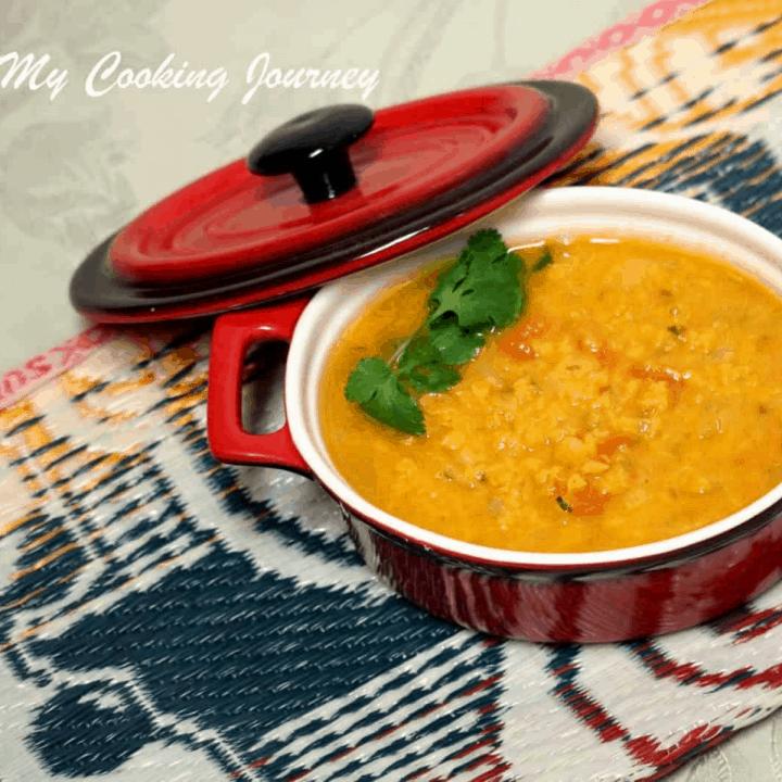 Nimbu Dal – Lemon Lentils Recipe in a pot