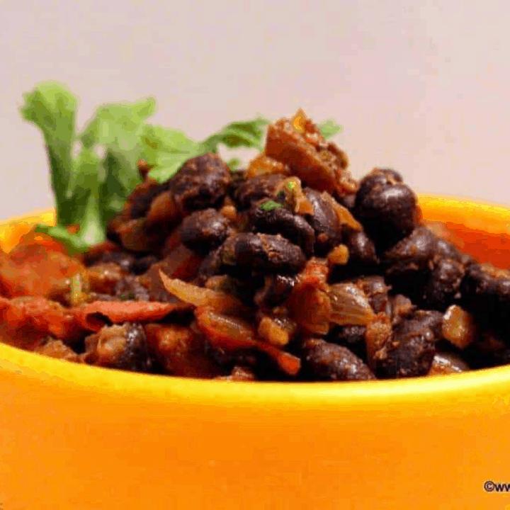 Warm Black Bean Salad in a Bowl